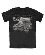 2018 mais novo masculino engraçado kubelwagen typ 82 camiseta schwarz wh wk fahrzeug oldtimer kubel esatzteile milit t camisa