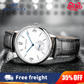 Seagull Marke herren Uhr Ultradünne Manuelle SelfWind Mechanische Mechanische Armbanduhren Top Herren Business Leder Armband