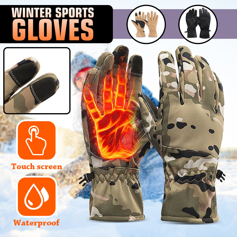 Men Women Ski Gloves Snowboard Gloves Ultralight Waterproof Winter Sonw Warm Fleece Motorcycle Snowmobile Riding Gloves