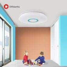 Modern LED tavan ışık RGB kısılabilir 25W 36W APP uzaktan kumanda Bluetooth müzikli ışık fuaye yatak odası akıllı tavan işık