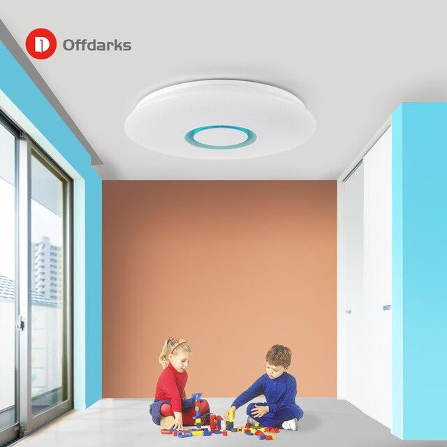 Moderne Led deckenleuchte RGB Dimmbare 25W 36W APP Fernbedienung Bluetooth Musik Licht Foyer Schlafzimmer Smart Decke licht