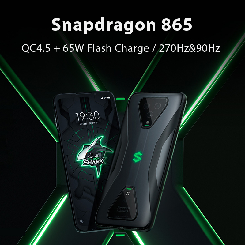Global Version Xiaomi Black Shark 3 Pro 5G Snapdragon 865 12GB 256GB Game Phone Octa Core 64MP Cameras 65W 5000mAh