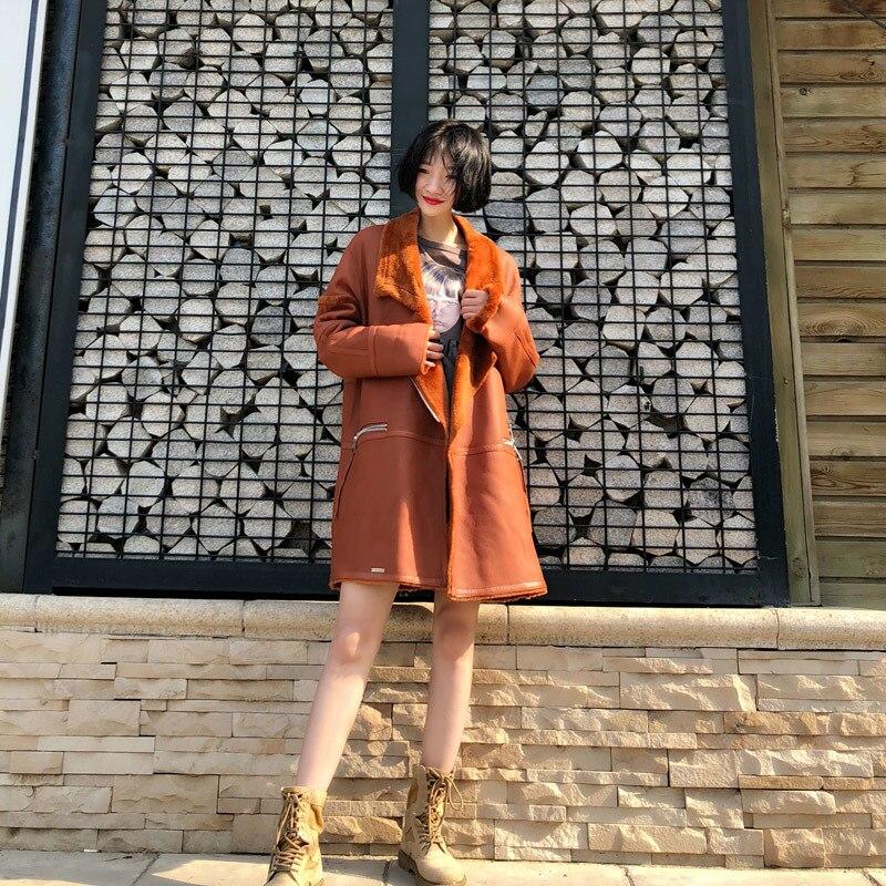 2020 Winter Genuine Leather Coats For Women Plus Size Oversize Lamb Korean Lady Sheep Shearling Jacket Fur Coat