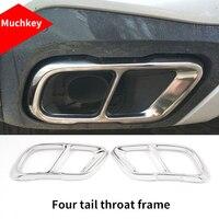 For BMW new X5 G05 2019 Four tail throat chrome molding trim 2pcs