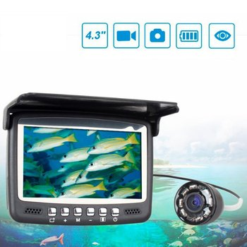 underwater night vision video fishing camera 720p 30m cable line 4 3inch lcd monitor 6 led light visual fish finder pesca tackle Fish Camera Fish Finder Underwater Ice Video Fishfinder Fishing Camera IR Night Dark Monitor Camera Smart Camera