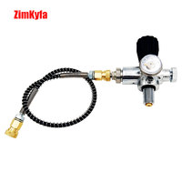 Jubilee PCP Scuba Charging Valve Air Filling Station Refill Adapter with 400bar 6000psi Gauge with 5/8-18UNF or M18x1.5 Threads