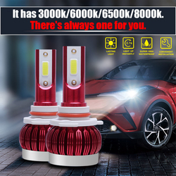 With 3000k/6000k/6500k/8000 K four color temperature car LED front light bulb, there is always one for you. H7 is more durable