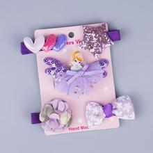 5Pcs/set Cartoon Baby Hair Clips Handdmade Cute Princess Flower Bow Crown Hairpins For Girls Newborn Kids Accessories New