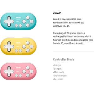 Image 5 - 8BitDo Zero 2 Bluetooth Gamepad Mini Controller Compatible for Nintendo Switch Windows Android macOS