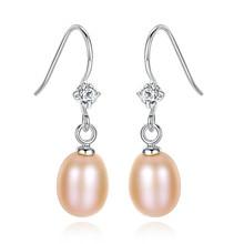 S925 Silver Pearl Earrings Insert 3A Zircon Korean Edition Womens Fashion Factory Direct Sales Fine Jewelry