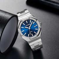 Relojes de hombre CADISEN de roble de 42MM, relojes mecánicos de lujo de marca para hombre, relojes de negocios automáticos para hombre de 100M, reloj impermeable para hombre NH35A
