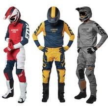 Стрим лиса Mx Джерси и брюки Топ ATV BMX Мотокросс комбо гоночный Dirt Bike костюм 6 цветов мотоциклетная одежда