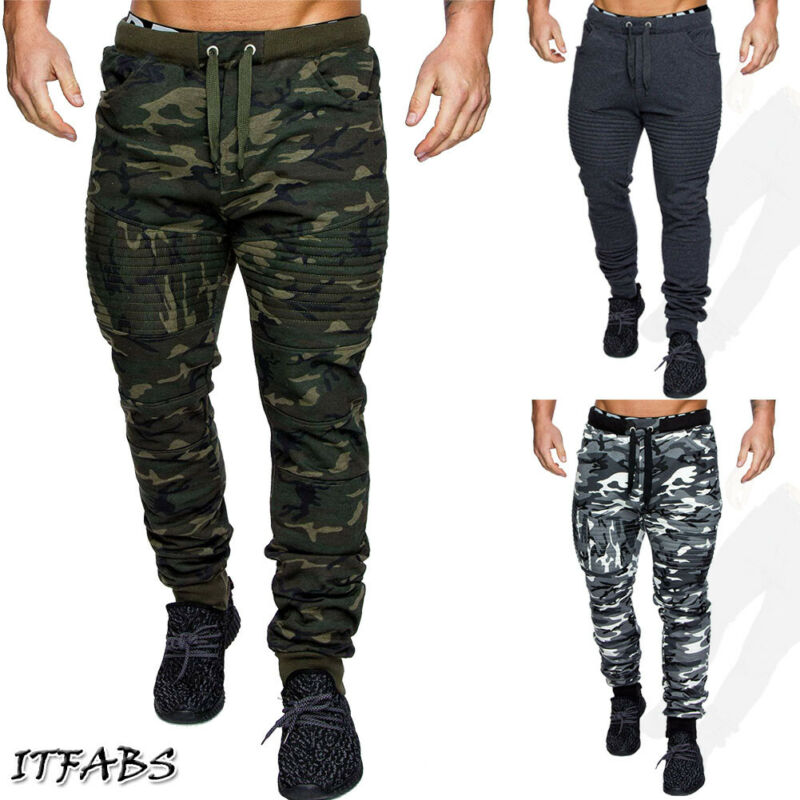 Fashion Military Camouflage Pants Men 2020 New Jogging Workout Gyms Camo Casual Streetwear Pants Trousers Men Skinny Sweatpants