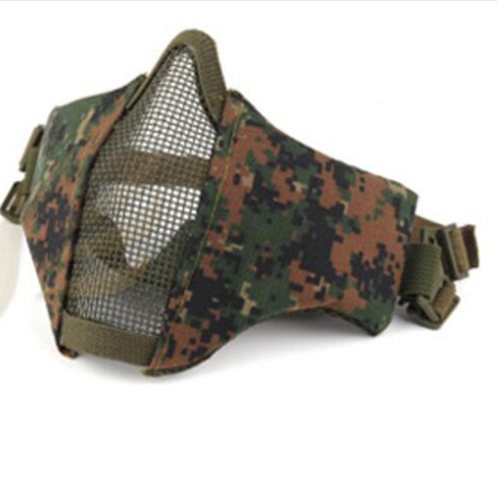 Breathable Half Face Mask Outdoor Field CS Army Games Mesh Eye Shield Mask Tactical Hunting Mesh Airsoft Mask
