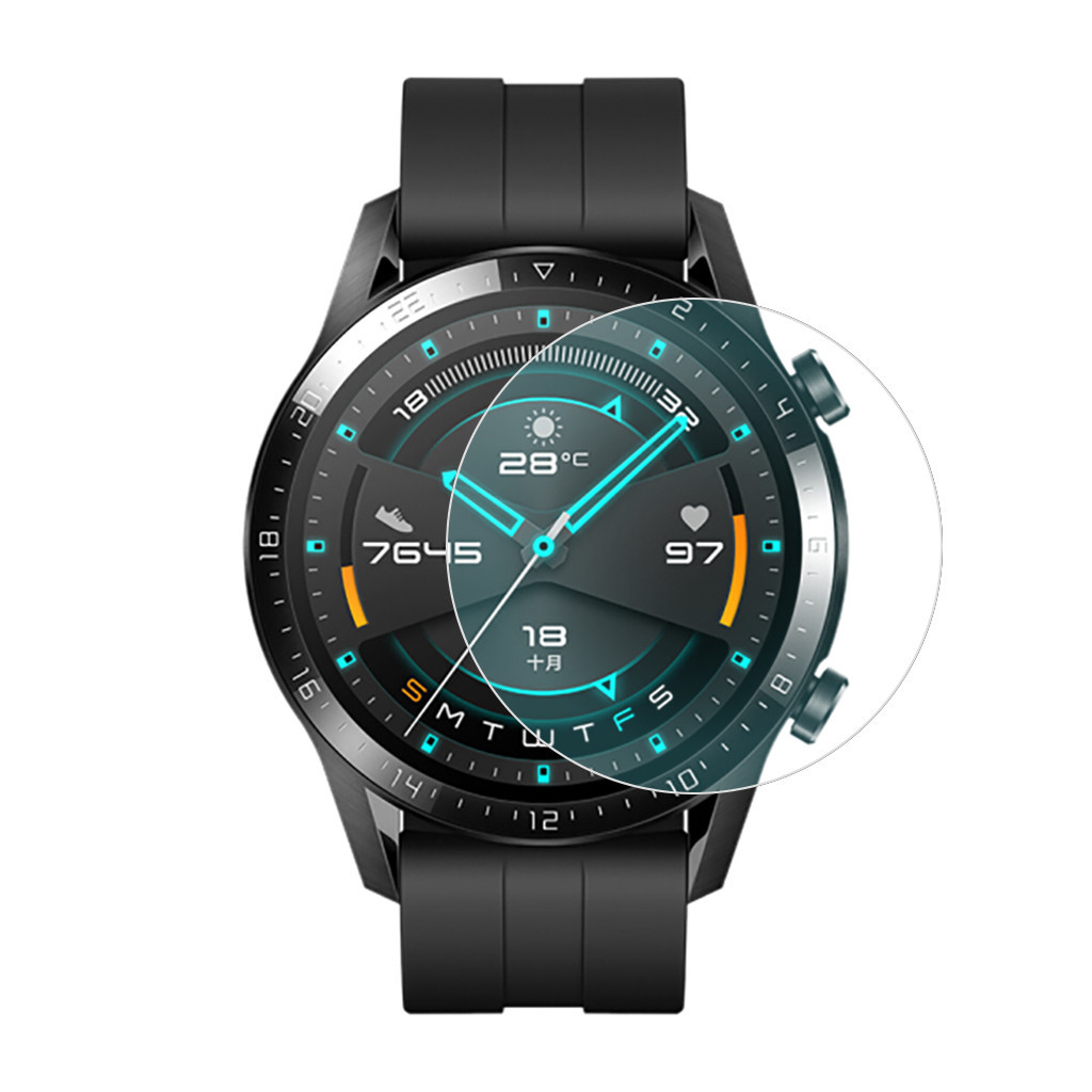 3pcs Tempered Glass For Huawei Watch GT2 46mm Screen Protector Huavey Huaway GT 2 Cover Protective Film 9H Glas Vidrio Templado
