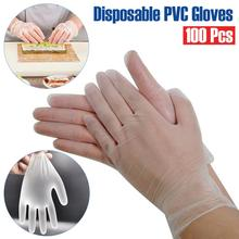 100PCS Transparent Disposable Gloves Dishwashing/Kitchen /Work/Rubber/Garden Protective Gloves Universal For Left and Right Hand