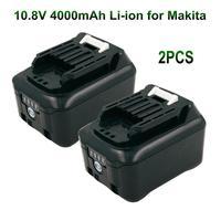 2PCS BL1040 BL1040B Ferramentas De Poder 10.8V 4000mAh Li-ion Bateria Recarregável para Makita BL1015 BL1020B BL1041 BL1016 BL1041B DF031D