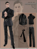 1/6 Scale black Gentleman Clothing Suit CC187 Black striped suit Fit 12 Male Action Figure Model for collection Toy