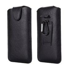 Universal coldre cinto telefone caso 4.7-6.7 polegada para iphone samsung huawei xiaomi lg telefones inteligentes couro ultra-fino cintura saco