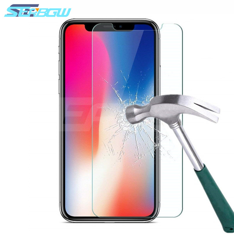 9H HD Tempered Glass For IPhone X XR XS Max 6 6s 7 8 Plus 10 5s Screen Protector Protective Glass On IPhone 7 8 6 Plus 5 X Glass