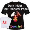 Tela de algodón de Color oscuro A3, papel de impresión con prensa de calor de hierro artesanal, papel de transferencia térmica de inyección de tinta, papel de impresión por sublimación
