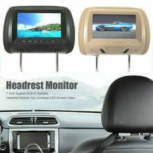 Universal 7 inches Automobile Car Headrest Monitor Rear Seat Entertainment Multimedia Player DC 12V General AV USB SD MP4(China)