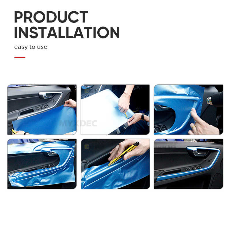 30x100cm Carbon Fiber Vinyl Film Auto Sticker Truck Motorfiets Spiegel Chrome Galvaniseren Car Styling Decoratie Wrapping Decal