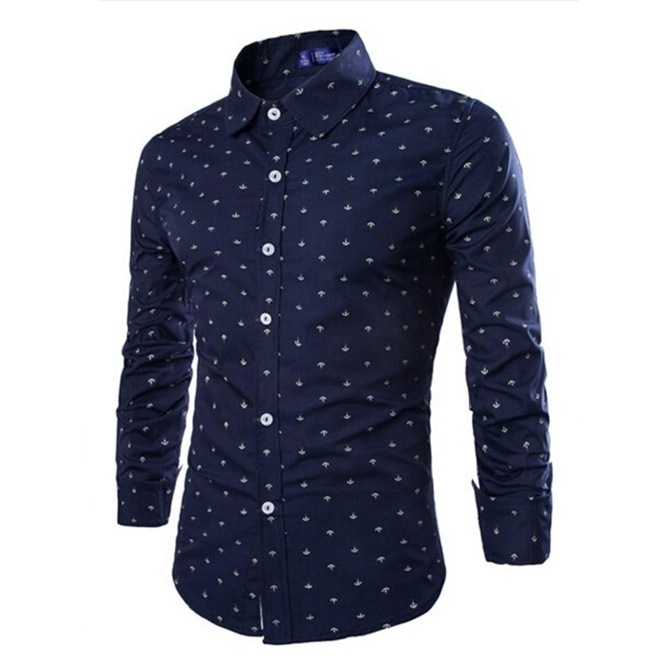 ZOGAA mens dress shirts 2020 Casual Shirts men autumn printing shirt men long sleeve shirt 5 colors men shirt size XS-2XL