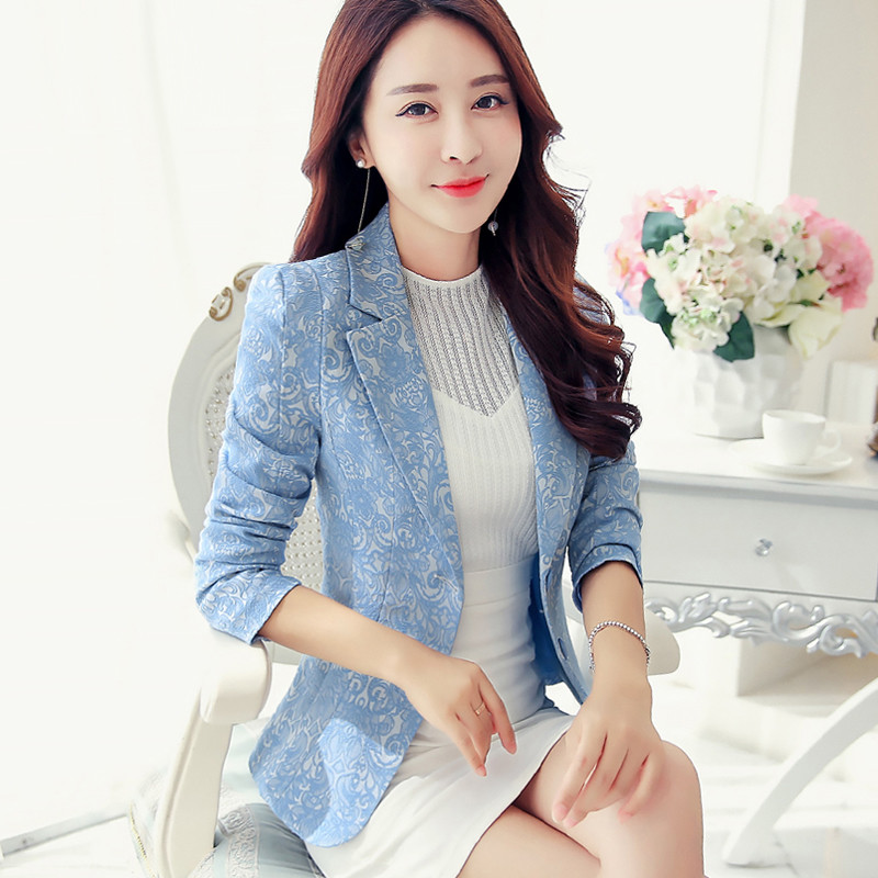 High Quality Women Blazers New Arrival 2020 Spring Fashion Korean Style Office Lady Elegant Slim Small Suit Jackets P257