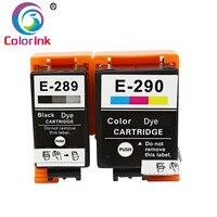 ColoInk 2 pack for Epson 289 290 T289 T290 잉크 카트리지 (염료 잉크 포함) Epson WF-100 프린터 카트리지 대형 카트리지