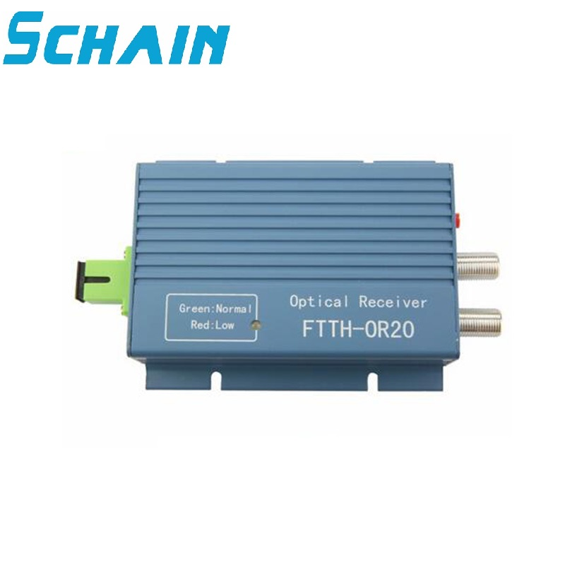 CATV Receiver FTTH AGC Micro SC APC Simplex Connector With 2 Output Port For PON FTTH OR20 CATV Fiber Optical Receiver