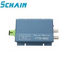 Connecteur Simplex Micro de SC APC du récepteur FTTH AGC de CATV avec 2 ports de sortie pour le récepteur optique de Fiber de CATV de PON FTTH OR20