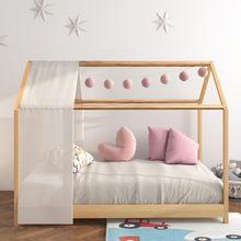 Панияна детская каркас односпальной кровати сплошной Сосновый