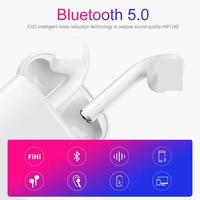 ravi i12 TWS Bluetooth 5.0 Touch Earphones,Mini Wireless Sweatproof Invisible Earbuds with Charging Box for IOS Android