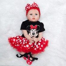 Newest Girl Toys 55cm Soft Silicone Reborn Dolls Lol Surprises Baby Realistic Doll Reborn Vinyl Boneca Reborn Doll For Girls