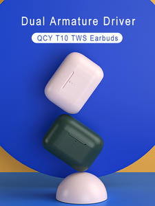 Bluetooth Wireless Headphones Noise-Reduction Dual-Armature 4-Microphone Qcy T10 Intelligent-Control