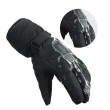 2019 New Men Women Waterproof Anti-Cold Warm Gloves Outdoor Sport Mitten Adjustable Full Finger Non-slip Winter