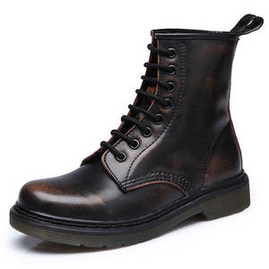 Shoes Winter Ankle-Boots Punk Riding Plus-Size Botas Genuine-Leather Casual 46 Equestr