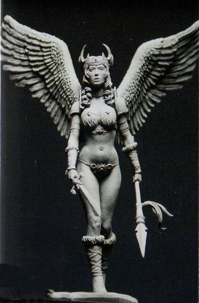 1/24 Ancient Woman Warrior With Wing  Resin Figure Model Kits Miniature Gk Unassembly Unpainted