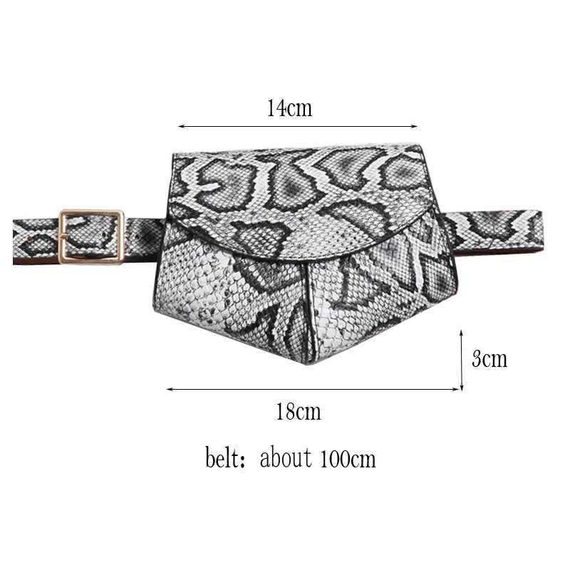 Serpentin Fanny Pack Damen PU Leder Taille Gürtel Tasche frauen Mini Disco Taille pack luxus handtaschen frauen tasche designer brust tasche