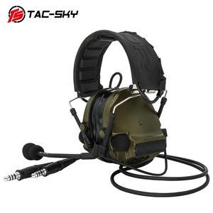 Image 4 - COMTAC TAC SKY comtac iii סיליקון מחממי אוזני כפול לעבור גרסה הפחתת רעש טנדר צבאי ירי טקטי headsetFG