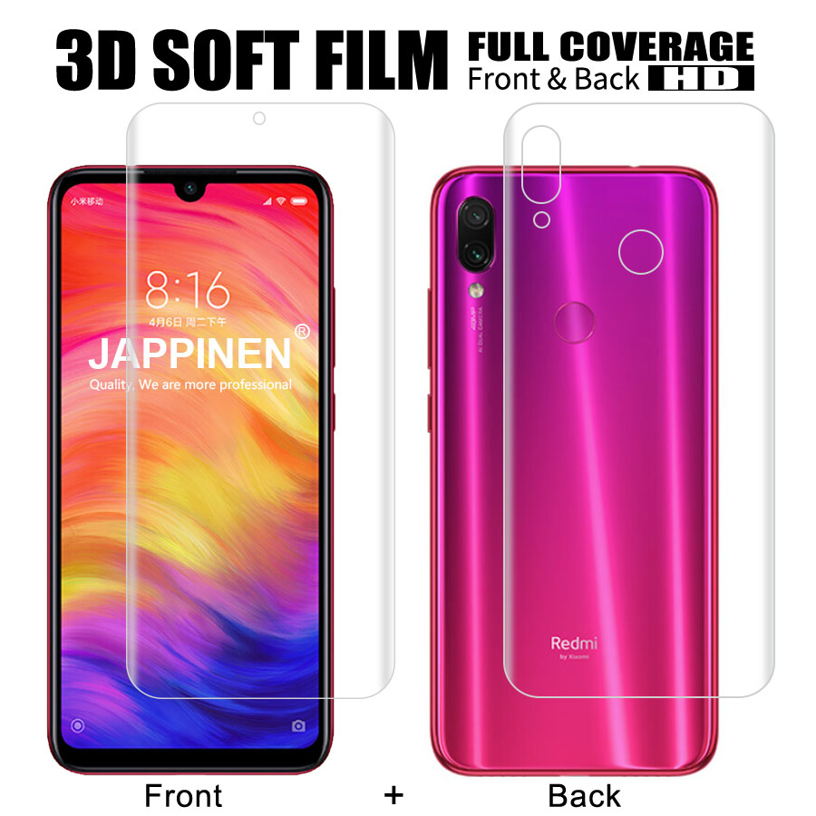 Front+Back 3D Full Cover Screen Protector TPU Film For Xiaomi Mi 9T SE 8 A2 Lite Pocophone F1 Redmi Note 7 K20 Pro Hydrogel Film-in Phone Screen Protectors from Cellphones & Telecommunications