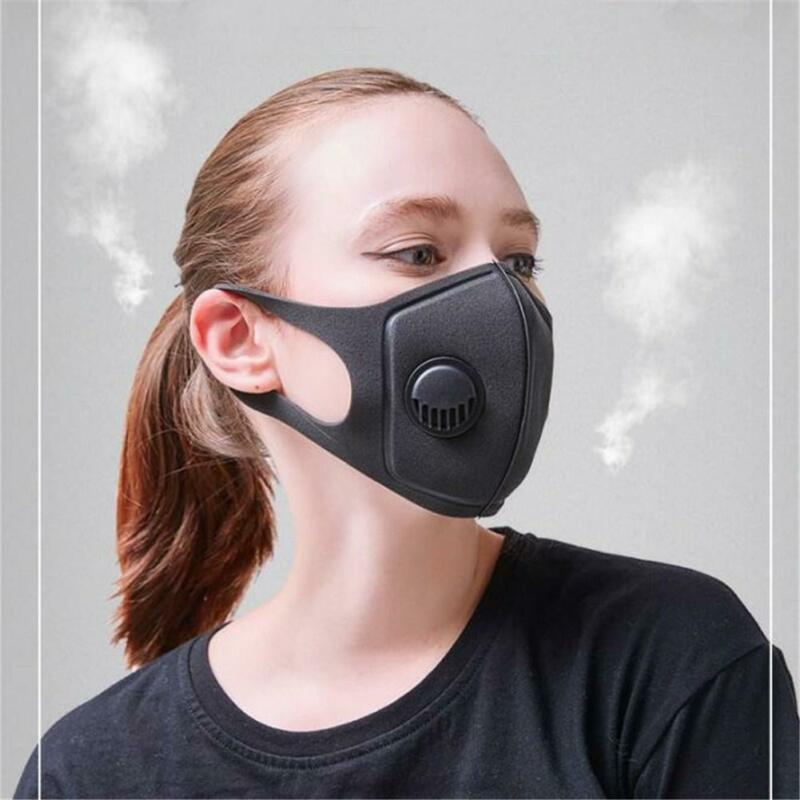 Adult PM2.5 Dust Mask Respirator Anti Pollution Air Face Masks Washable Reusable Pollen Dust Breathing Mask Washable Anti-fog
