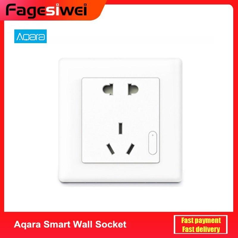 Aqara Smart Wall Socket ZigBee Wireless Wall Outlet Wall Socket Switch Work For Smart Home Kits APP
