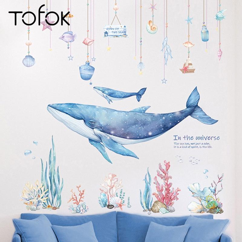 Marine Fish Aquarium Coral Wall Stickers Vinyl Decal Nursery Decor Art Mural DIY