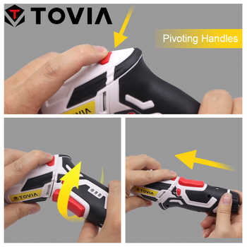 TOVIA 3.6V Cordless Screwdriver LED Light Electric Screwdriver Drill Lithium Accumulators Screwdriver Rechargeable Power Tool