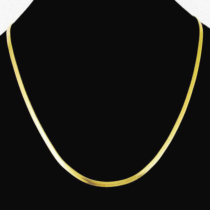 Mode Punk Hip Hop serpent plat en acier inoxydable chaîne cubaine collier pour hommes femmes fermoir Collares colliers fête bijoux cadeau