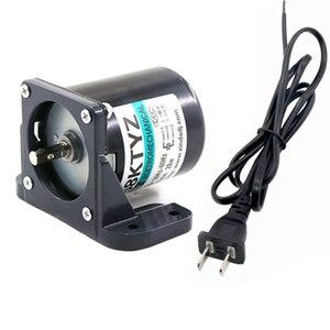 """Image 5 - AC220V הילוך מנוע 2.5/5/10/15/20/30/50/60/80/100 סל""""ד חזק מגנט קבוע סינכרוני Gear מנוע במהירות נמוכה מנוע AC"""