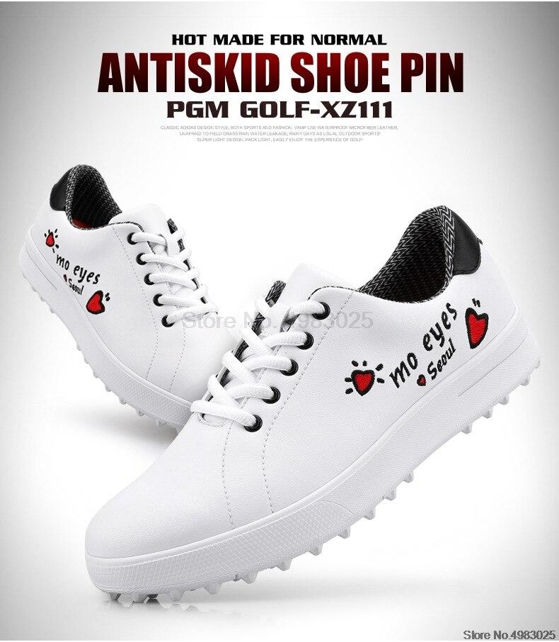 senhoras spikes skidproof tênis de golfe feminino