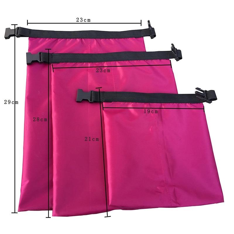 3 Pcs/set Waterproof Dry Bag Multifunctional Light Upstream River Rafting Three-piece Waterproof Waterproof  Bag Large Medium